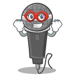 Super hero microphone cartoon character design vector