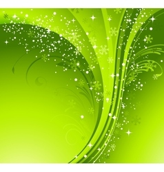 Green christmas banner with snowflakes vector