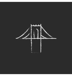 Bridge icon drawn in chalk vector