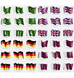 Pakistan united kingdom germany qatar set of 36 vector