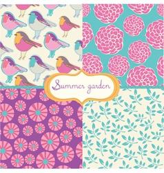 summer vintage vector image