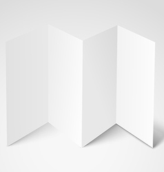 Blank white booklet template mockup template for vector