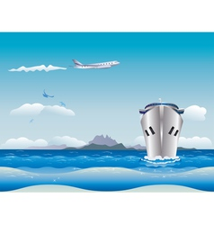 Airplane and ship2 vector