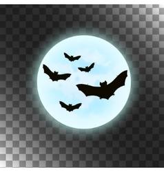 bats with moon Halloween vector image vector image