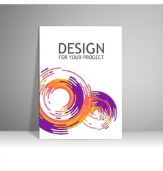 Blank paper poster on wall mockup presentation vector