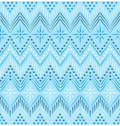Blue ethnic seamless pattern vector