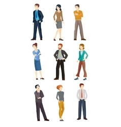 Collection of business people vector image vector image