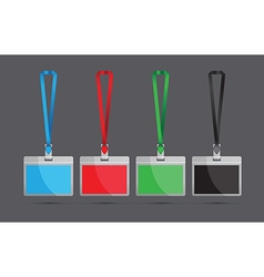 colourful lanyards vector image vector image