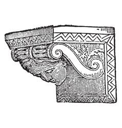 Corbel lower vintage engraving vector