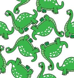 Dinosaur pattern vector