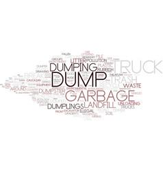 Dumping word cloud concept vector