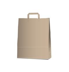 Empty Carrier brown bag on white vector image vector image