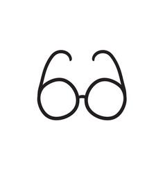 Eyeglasses sketch icon vector