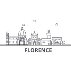 florence architecture line skyline vector image