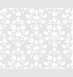gray floral seamless background vector image
