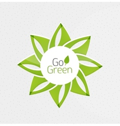 Green leaf icon concept vector image