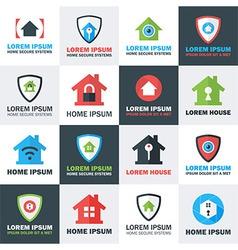 Home Security Logos Set vector image vector image