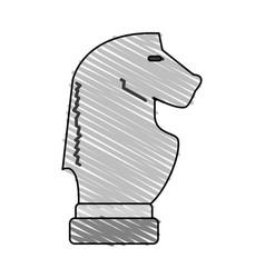 Horse chess piece design vector
