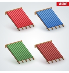 Icon Metal Cover on Roof vector image