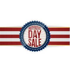 Independence day sale patriotic emblem vector