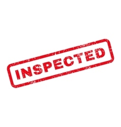 Inspected text rubber stamp vector