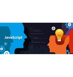 Java script programming language code software vector