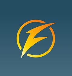 Letter f lightning logo icon design template vector