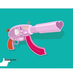 Love gun Arms Cupids vector image vector image