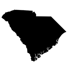 map of the US state of South Carolina vector image vector image