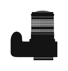 Professional camera black icon vector
