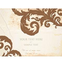 Rustic invitation vector