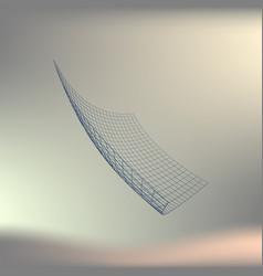 Wire frame polygonal landscape bent wire frame vector