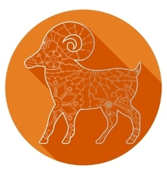 Flat icon of zodiac sign Aries vector image