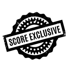 score exclusive rubber stamp vector image