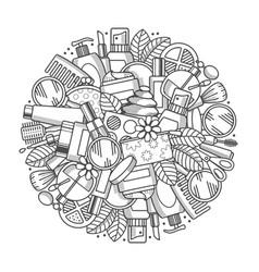 Cosmetics design vector