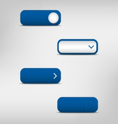 Blue empty rectangular buttons vector