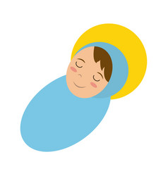 Baby jesus sleeping icon image vector