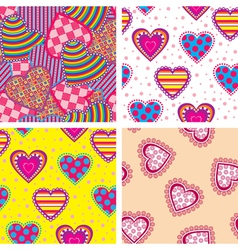 Set heart pattern vector