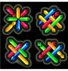 Diagonal cross geometric element vector image