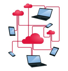 cloud networking vector image