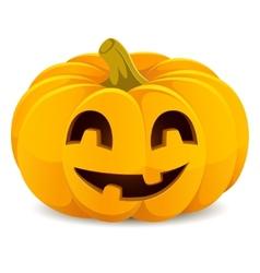 Halloween pumpkin Smiling Jack-O-Lantern on a vector image