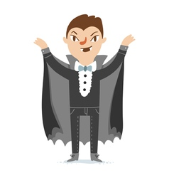 Vampire character vector image