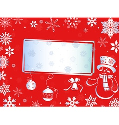 Christmas greeting card in red hues vector