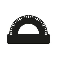 The protractor icon vector