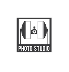 photo studio design template vector image