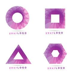 Geometric logo element icon vector image