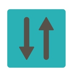 Arrows exchange vertical flat grey and cyan colors vector