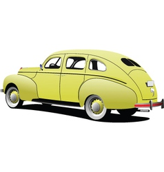 classic car vector image