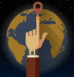 Smart watch earth vector