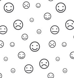 Smiley faces seamless pattern vector